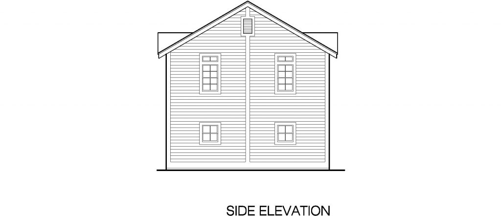 02 - Porches Garage - 6 - side elevation
