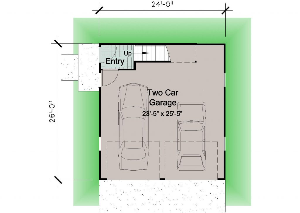 02 - Porches Garage - REV - 1 - ground floor