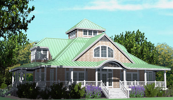 Grand island cottage 4220 sf southern cottages Island cottage house plans