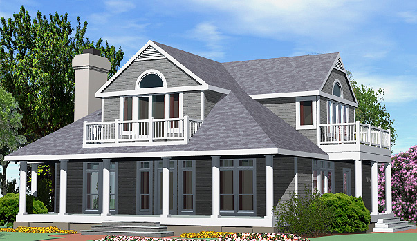 Shingle Cottage Balcony Option Front Right
