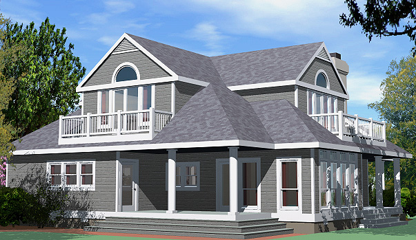 Shingle Cottage Balcony Option Rear Right