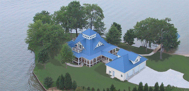 Island Cottage Aerial