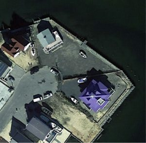 Island Cottage Satellite Image