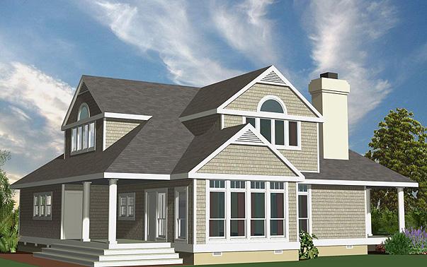 Shingle Cottage Left Rear